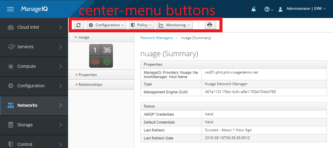 It's now possible to customize center-menu buttons from within the provider codebase.